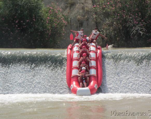 Murcia aventuras Buggy en banana rafting